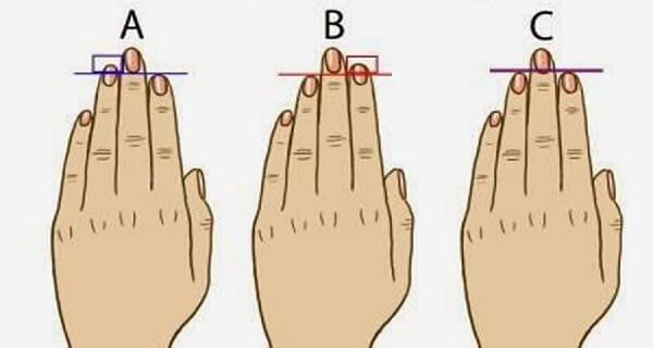 lunghezza dita
