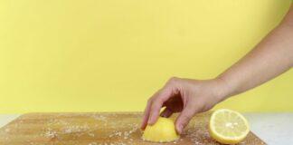 limpiar con limón tabla de madera