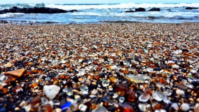 Glass Beach in USA