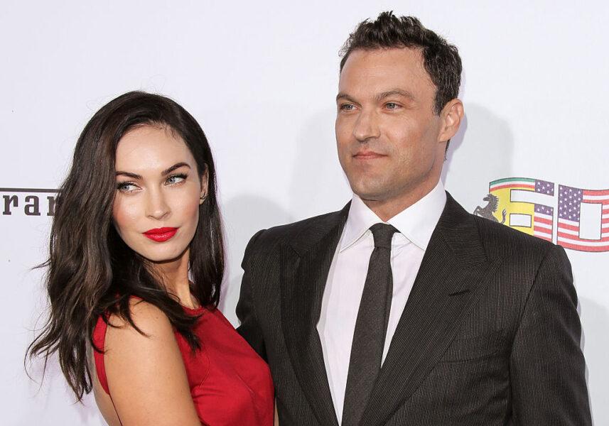 Megan Fox och Austin Greene på en gala
