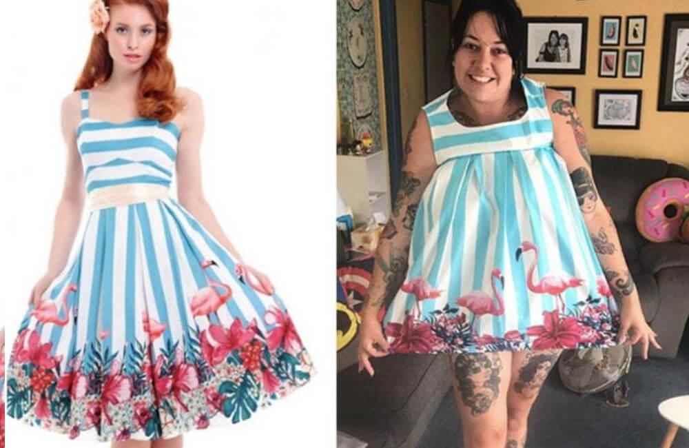 Sukienka flamingowa