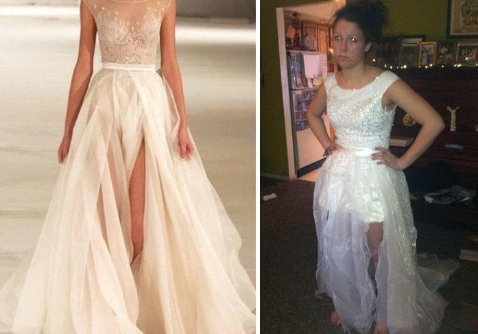 Suknia ślubna katastrofa